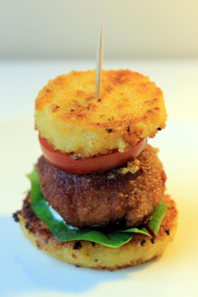Polenta-rapu-burgerit
