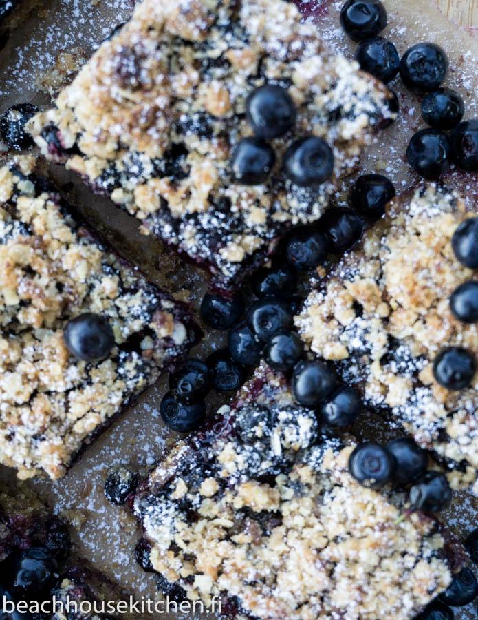 gluteeniton mustikkapiirakka